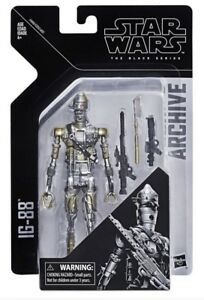 "Star Wars The Black Series 6"" Inch Archive Bounty Hunter Droid IG-88 In Hand"