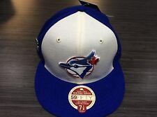 Toronto Blue Jays Heritage Series New Era Cap Hat 7 3/8 59fifty W/Pin & Box MLB