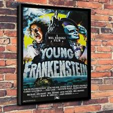 "Frankenstein FILM, stampato su tela A1.30""x20"" ~ Deep 30mm TELAIO Mel Brooks"