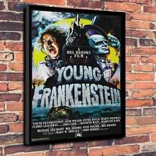 """El Jovencito Frankenstein película, Lona Impresa A1.30""""x20"""" ~ Marco 30mm profundo Mel Brooks"""