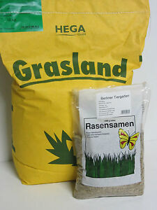 HEGA Grasland Rasensamen Grassamen Berliner Tiergarten Saatgut Rasen Gras 10kg
