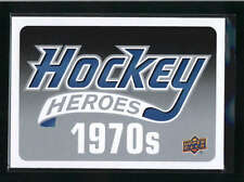 2012/13 12/13 UPPER DECK HOCKEY HEROES 1970S HEADER CARD AB9104