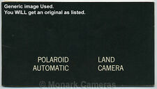 POLAROID AUTOMATIC 220 Land Camera guide d'Instruction Book. plus manuels MIS EN VENTE.