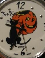 Halloween Wrist Watch by KOKO Pumpkin and Black Cat Quartz Japan Movt  unused?