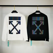 Off-White 2020SS Autumn New Front and Rear colorful 3M reflective Sweater 2185