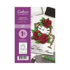 Crafters Companion non montés Rubber Stamp Prennent Du Temps roses CC-St-TT watch