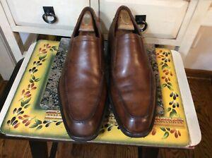 ECCO Men's Brown  Leather Slip On Comfort Loafer Shoes Size 45 EU 11/11.5 US