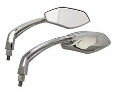 1 Paar Spiegel Chrom Motorradspiegel Lenkerspiegel Rückspiegel verchromt M10 NEU