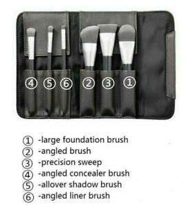 SEPHORA COLLECTION Deluxe Charcoal Antibacterial Brush Set Full SZ NEW Auth $62
