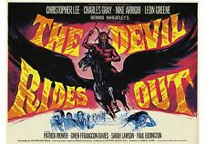 The Devil Rides Out - Christopher Lee - Hammer Horror - A4 Laminated Mini Poster
