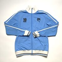 DGRE Sports Mens Argentina Soccer Football Track Jacket Blue Full Zip