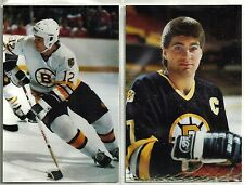 1987-88 Boston Bruins 10-card Postcard Set  Ray Bourque  Glen Wesley  +++