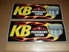 2 KB Silv-O-Lite High-perf Pistons contingency Hot Rod Drag racing decal sticker