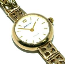Ladies/womens 9ct yellow gold Accurist with a C.R.Mackintosh design bracelet