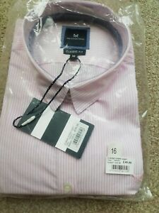Crew Clothing Company Classic Striped Shirt Pink Ladies Size UK 16, RRP £49 Bnwt