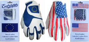 Europe USA Cabretta Leather Golf Glove 5 Sizes 4 Gents Small Medium Large XL