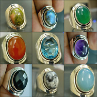 DESIGNER HANDMADE RINGS IN DIFFERENT STONES ONLY IN 925 SOLID STERLING SILVER