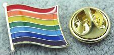 10 x Rainbow Flag Lapel Pin Badge Pride LGBT Lesbian Gay Diversity Symbol Sign