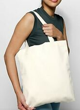 30- NATURAL COTTON TOTE BAGS Durable Books School Grocery Shopping Art Swag Bags
