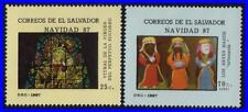 SALVADOR 1987 CHRISTMAS / CHILDREN'S PAINTINGS MNH ** RELIGION (h-s)