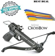 Mini Crossbow Pistol 50 lb. Hand Held Gun Archery Hunting Cross Bow w/ 5 Arrows