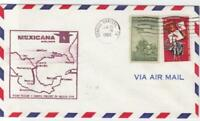 mexicana airlines copus christi  1966  air mail stamps  flight cover ref r15420
