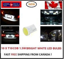 10PC COB White 6000k LED T10 194 158 168 91 Map Dome License Plate Light Bulb