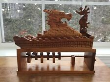Wood Automata Toy Carved Dragon Marble Mover Hand Crank Mechanical Toy