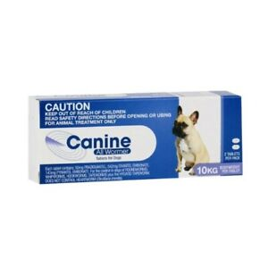 CANINE ALL WORMER for Small Dogs 2pack - Dog Worming Tablets 1tab per 10Kg 12/21