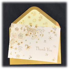 Papyrus Gail Flores Gold Foil Glitter Thank You Single Note Card SOLD OUT Stores