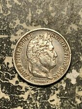 1846-A France 50 Centimes Lot#Q6442 Silver! Nice!
