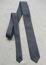 BOYS VINTAGE TIE MOD CASUAL 1970'S 1980'S BNWOT NEW AGE 4-10 GREY BLUE STRIPED