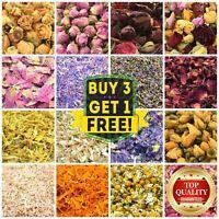 Dried Flowers & Petals 60+ Types! Tea, Edible, Soap Craft Confetti Cake Decor