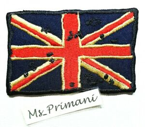 Embroidered Vintage UK Flag Patch British Union Jack Iron/sew on Biker Badge