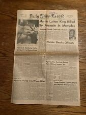 Martn Luther King Assassination Newspaper