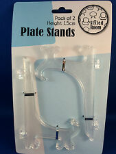 Plate Stand Clear 2 X Medium 15cm Plate Display Stands Easel Style