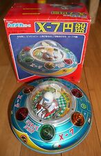 MASUDAYA UFO X-7 TIN PLATE SPACE SHIP TOY RARE 1960's  JAPAN BOXED RETRO
