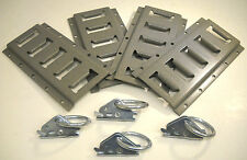 4 Pack E Trac Combo Kit Tie Down Cargo Motorcycle Enclosed Trailer Track D Ring