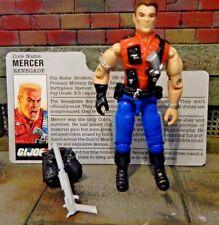 GI JOE ~ 1987 MERCER ~ SLAUGHTERS RENEGADES ~ 100% complete & file card