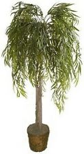 Artificial 6' Weeping Willow Tree Plant Bush In Basket Topiary Palm Arrangement