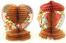 Lot Valentines Day 1920s Honeycomb Decoration Beistle Cherub Fold Out 3-D Pop Up