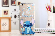 iPhone 5/5s/SE funda carcasa gel silicona transparente dibujos disney stitch