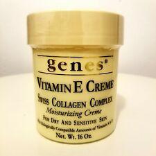Genes Vitamin E Creme Swiss Collagen Complex Moisturising Cream 16oz Sealed