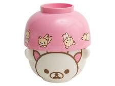 NIB AUTH San-X Rilakkuma Korilakkuma Relax Bear Rice & Soup Bowl Set Tableware