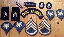 Mixed Patch Lot Vintage USA Vietnam Era Army Uniform & Coast Guard Cap Patches