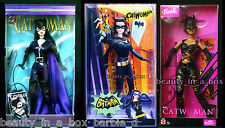 Catwoman Barbie Doll Super Hero DC Comics Halle Berry Purple Lot 3 Versions G SW