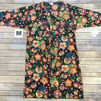 MEDIUM SHIRLEY LuLaRoe MULTICOLOR FLORAL ON PURPLE, Kimono Cover-Up; Sizes 10-18