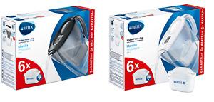BRITA Marella MAXTRA+ 2.4L Water Filter Jug + 6 Month Cartridges Filters Pack