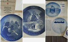"Royal Copenhagen Porcelain 1973 Train, Bing & Grondahl 1971, Denmark, 7"" Plates"