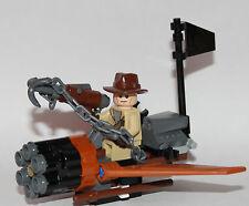 Seul lego pièces lego indiana jones indiana jones + fantasy avion + crochet shooter